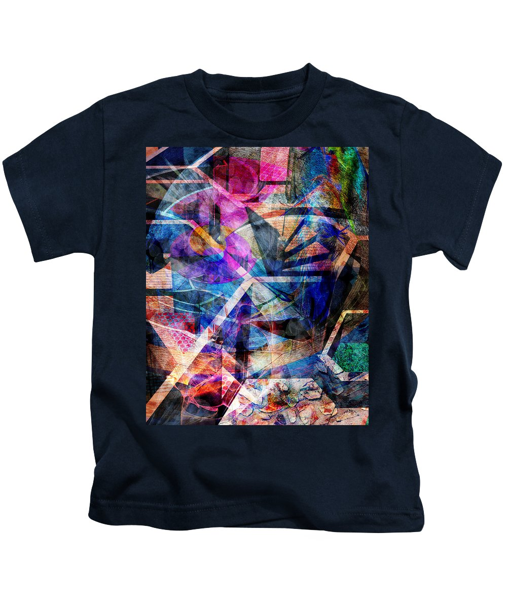 Just Not Wright Kids T-Shirt featuring the digital art Just Not Wright by John Beck