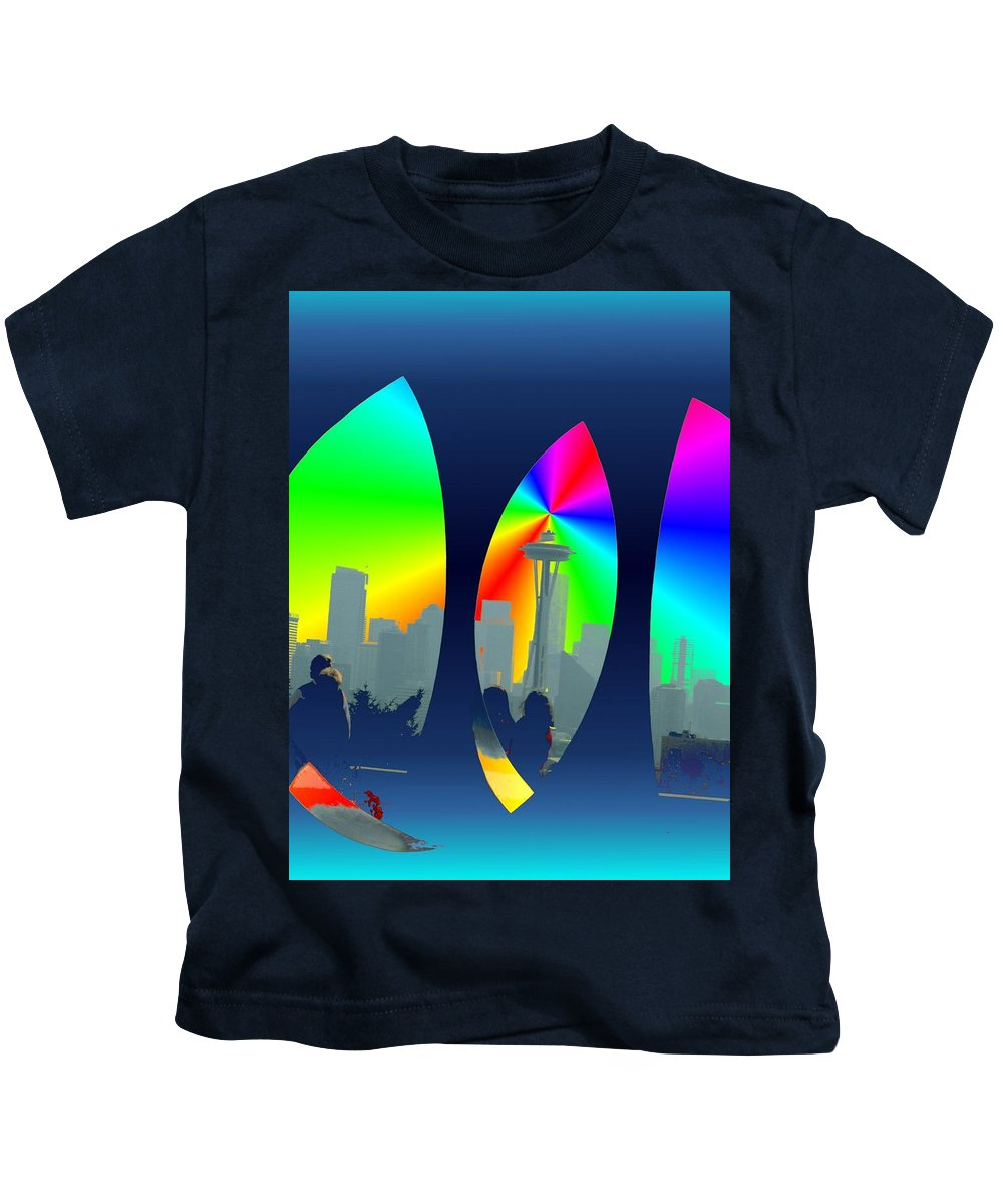 Seattle Kids T-Shirt featuring the digital art Kerry Needle 3 by Tim Allen