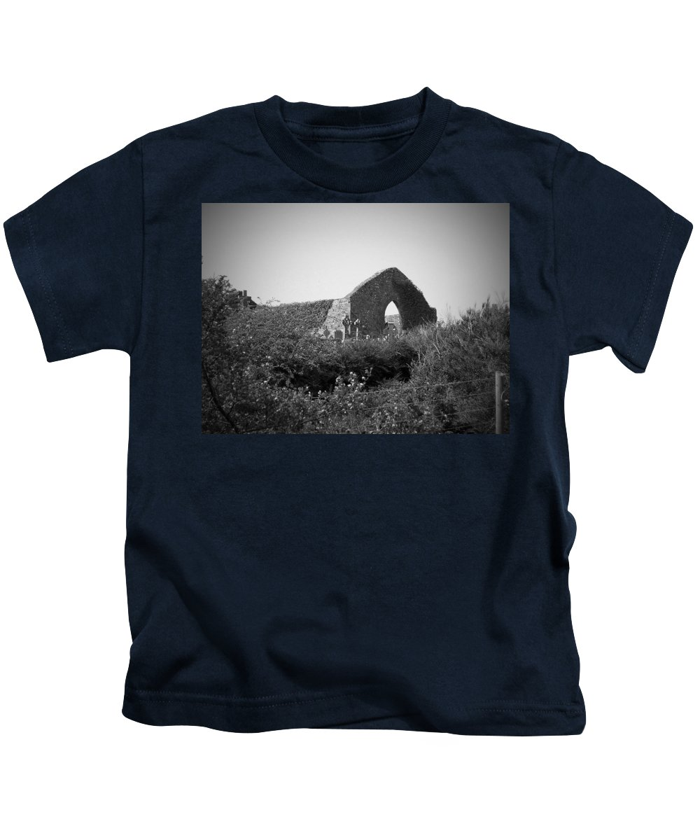 Irish Kids T-Shirt featuring the photograph Kilmanaheen Church Ruins Ennistymon Ireland by Teresa Mucha