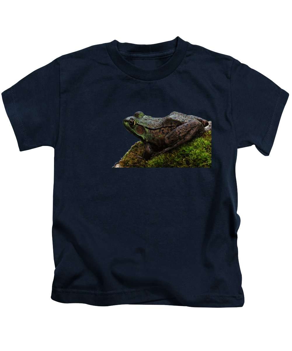Amphibians Kids T-Shirt featuring the photograph King Of The Rock by Debbie Oppermann