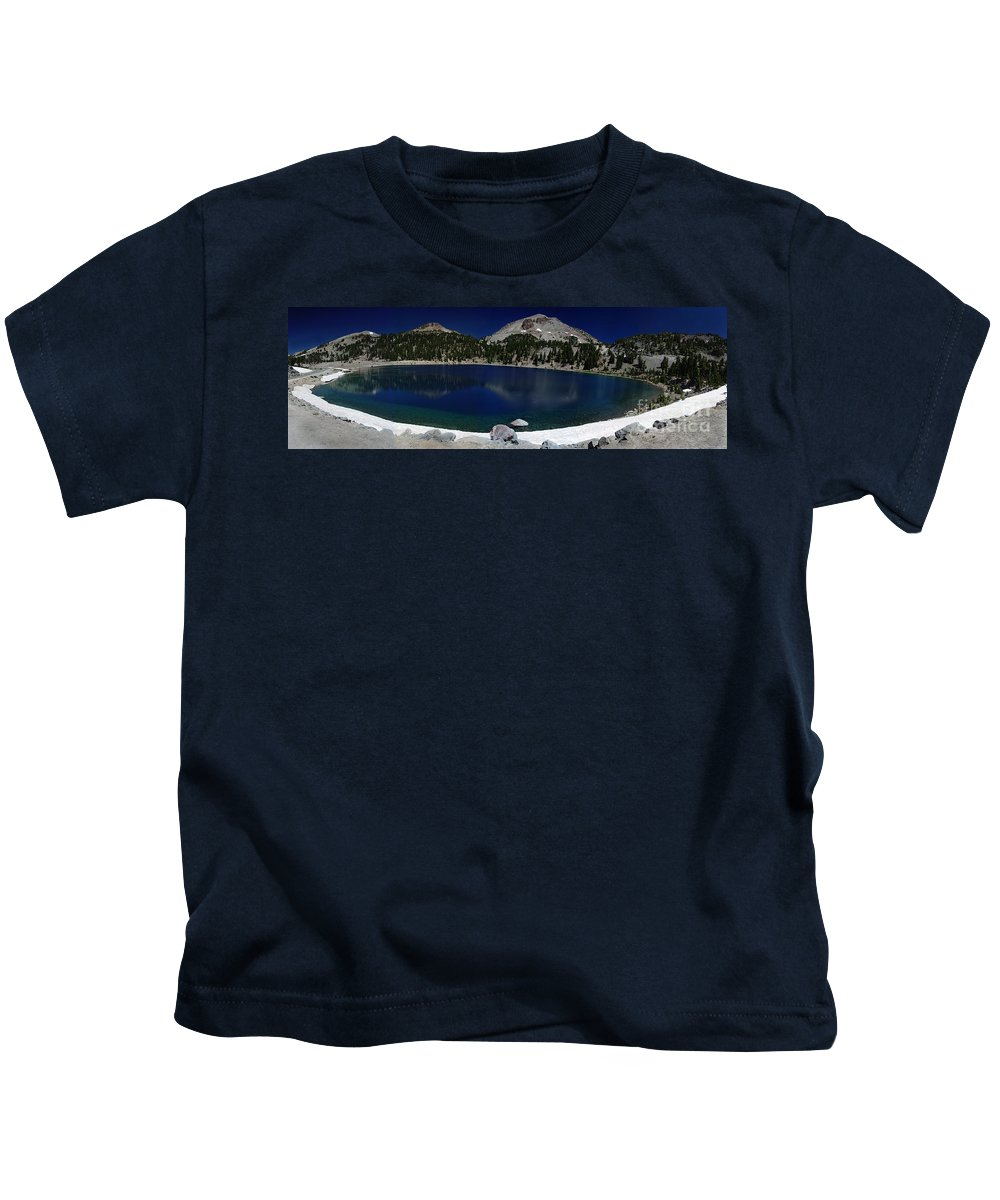 Mirror Kids T-Shirt featuring the photograph Lake Helen Lassen by Peter Piatt