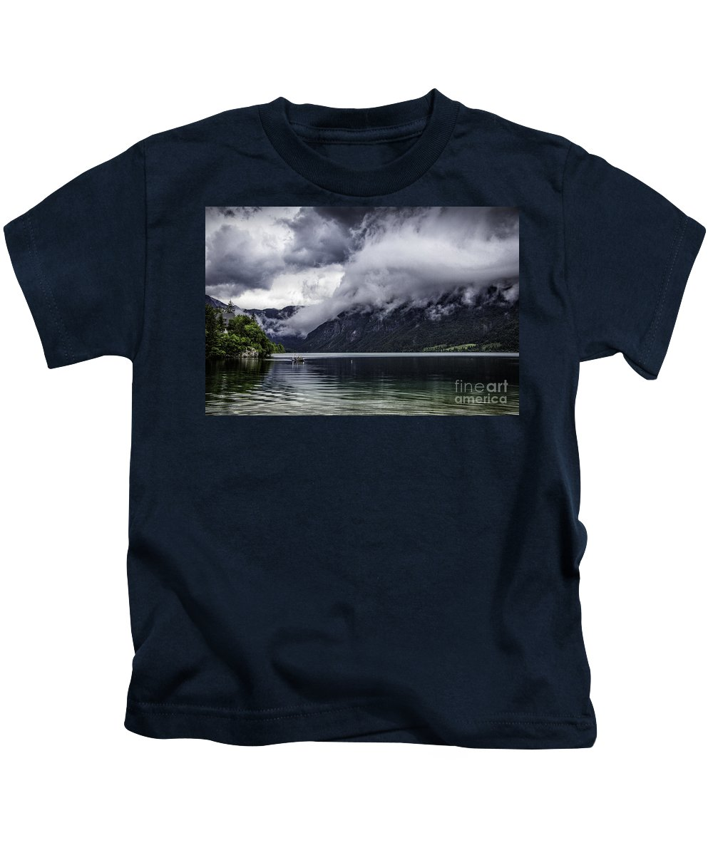 Croatia Kids T-Shirt featuring the photograph Lake In The Julian Alps Slovenia 1 by Timothy Hacker
