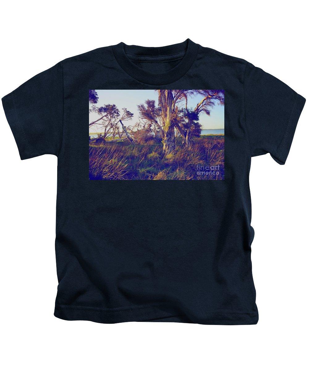 Melaleuca Kids T-Shirt featuring the photograph Lake Leschenautia by Cassandra Buckley