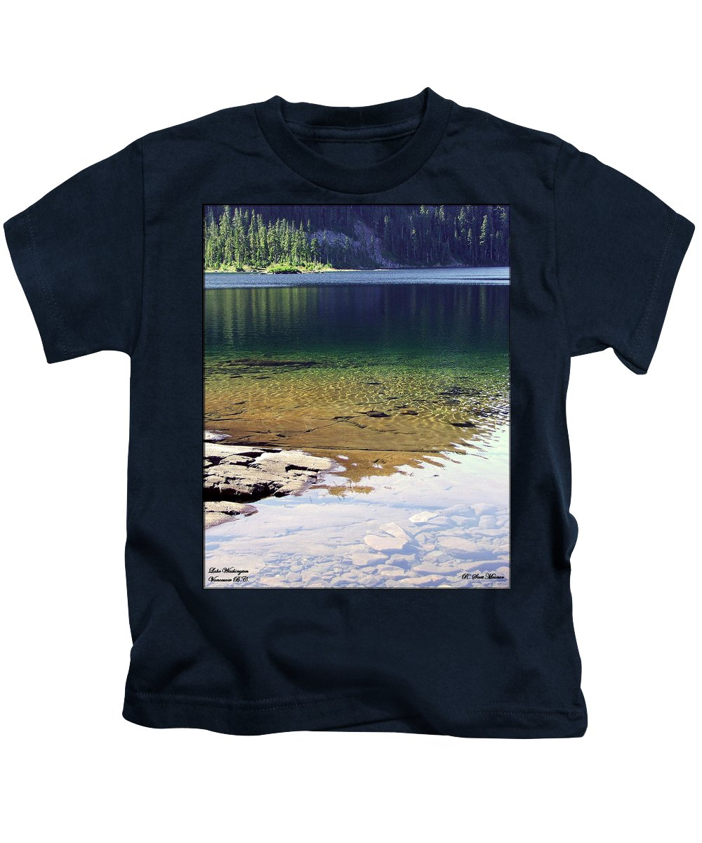 Vancouver B.c. Kids T-Shirt featuring the photograph Lake Washington by Robert Meanor