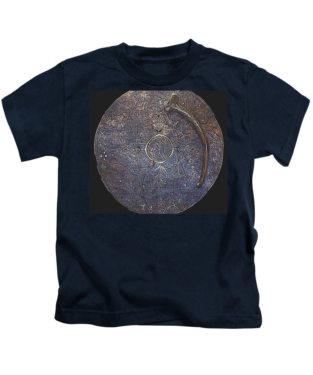 Lapland Kids T-Shirt featuring the photograph Lapland Shaman Drum by Merja Waters