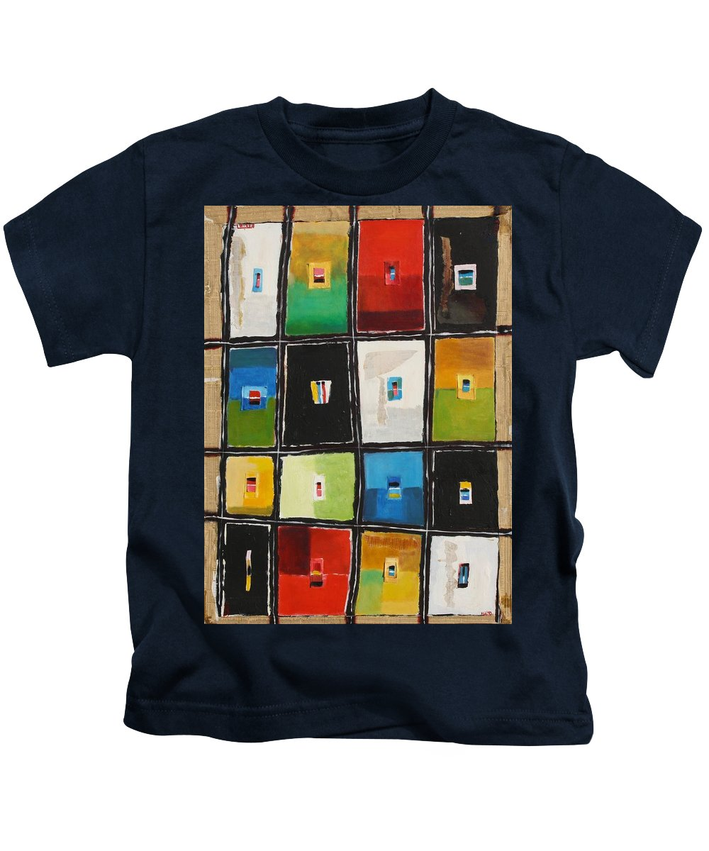 Abstract Kids T-Shirt featuring the painting Le Language Des Couleurs by Habib Ayat