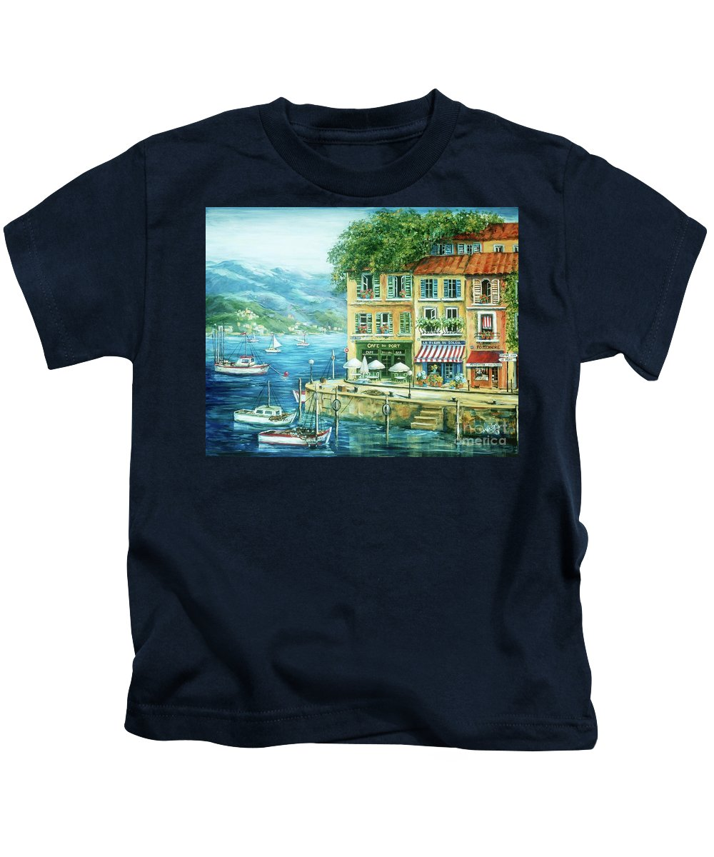Europe Kids T-Shirt featuring the painting Le Port by Marilyn Dunlap