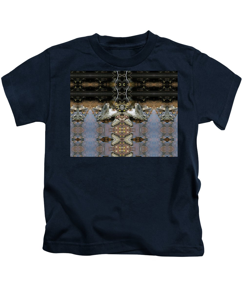 Surrealistic Kids T-Shirt featuring the digital art Lifting Up My Golden Eyes In Prayer by Julia L Wright