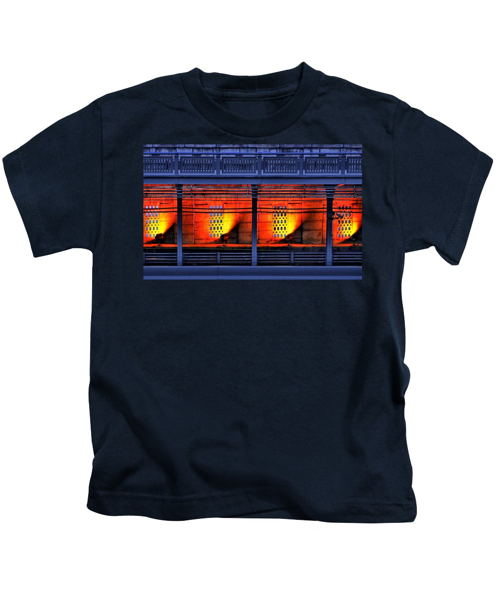 Abstract Kids T-Shirt featuring the photograph Lights And Shadows by Evelina Kremsdorf