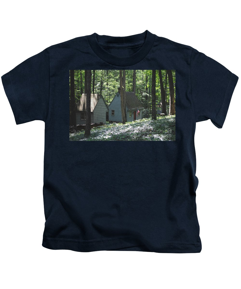 Little Kids T-Shirt featuring the photograph Little House In The Woods by Jost Houk