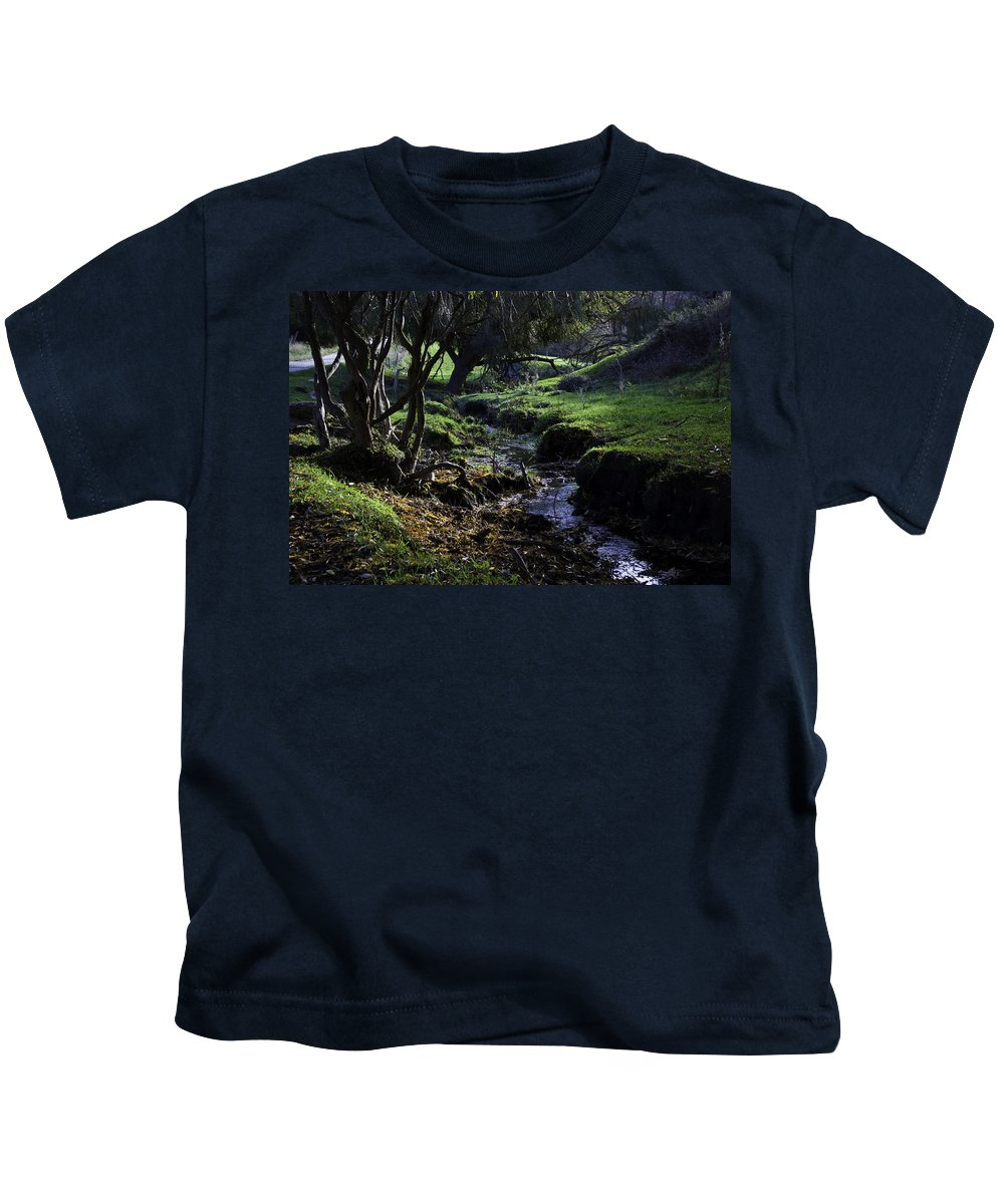 Stream Kids T-Shirt featuring the photograph Little Stream by Kelly Jade King