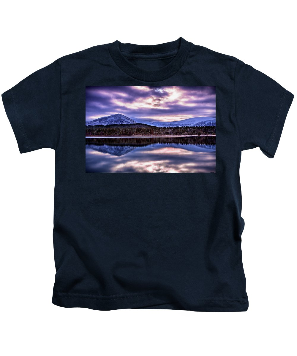 United Kingdom Kids T-Shirt featuring the photograph Loch Morlich by John Frid