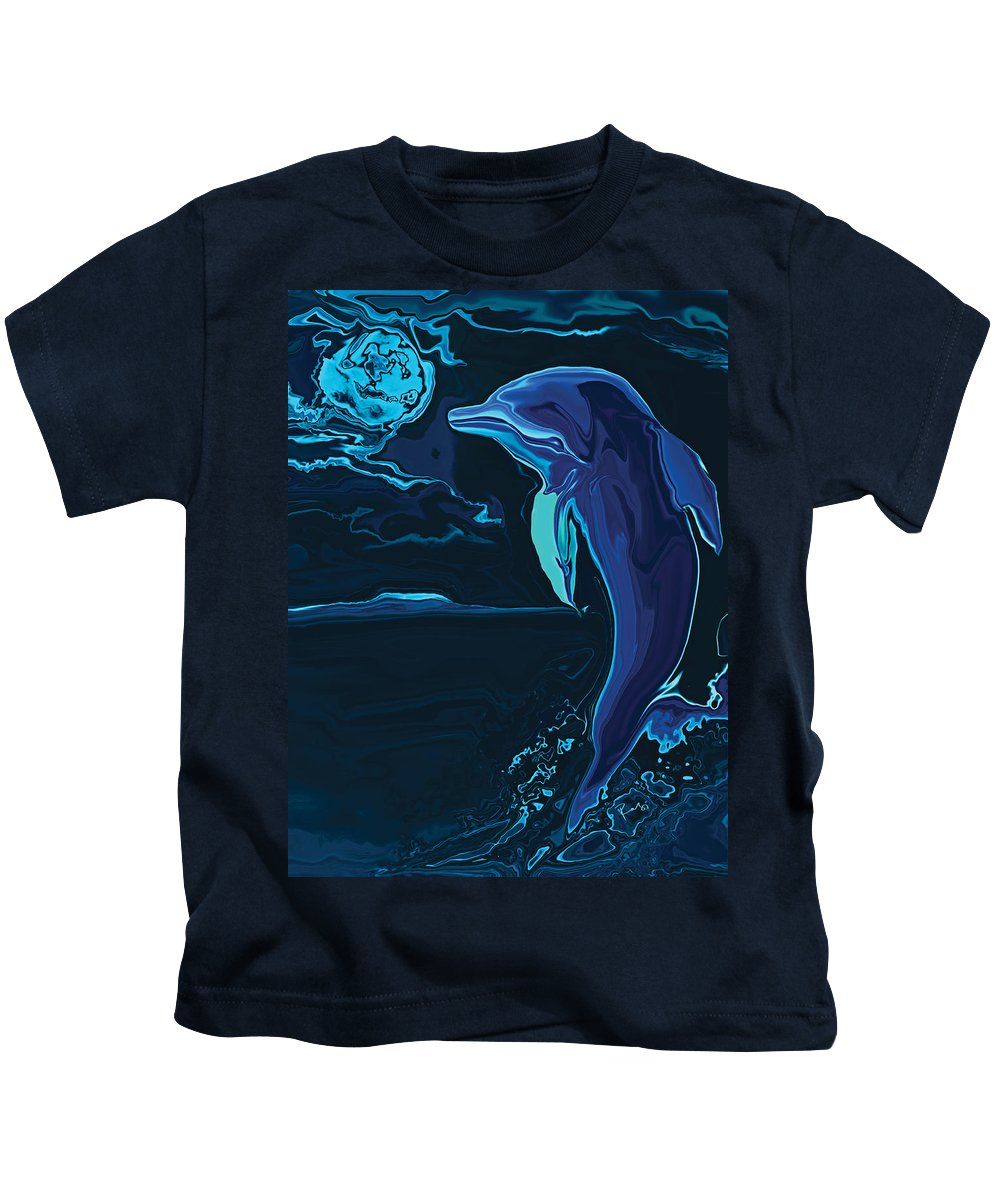 Animal Kids T-Shirt featuring the digital art Lonely Tonight by Rabi Khan