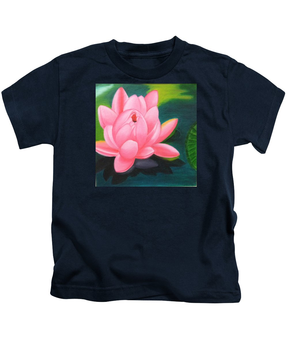 Flower Kids T-Shirt featuring the painting Lotus Bloom by Pragya Suman
