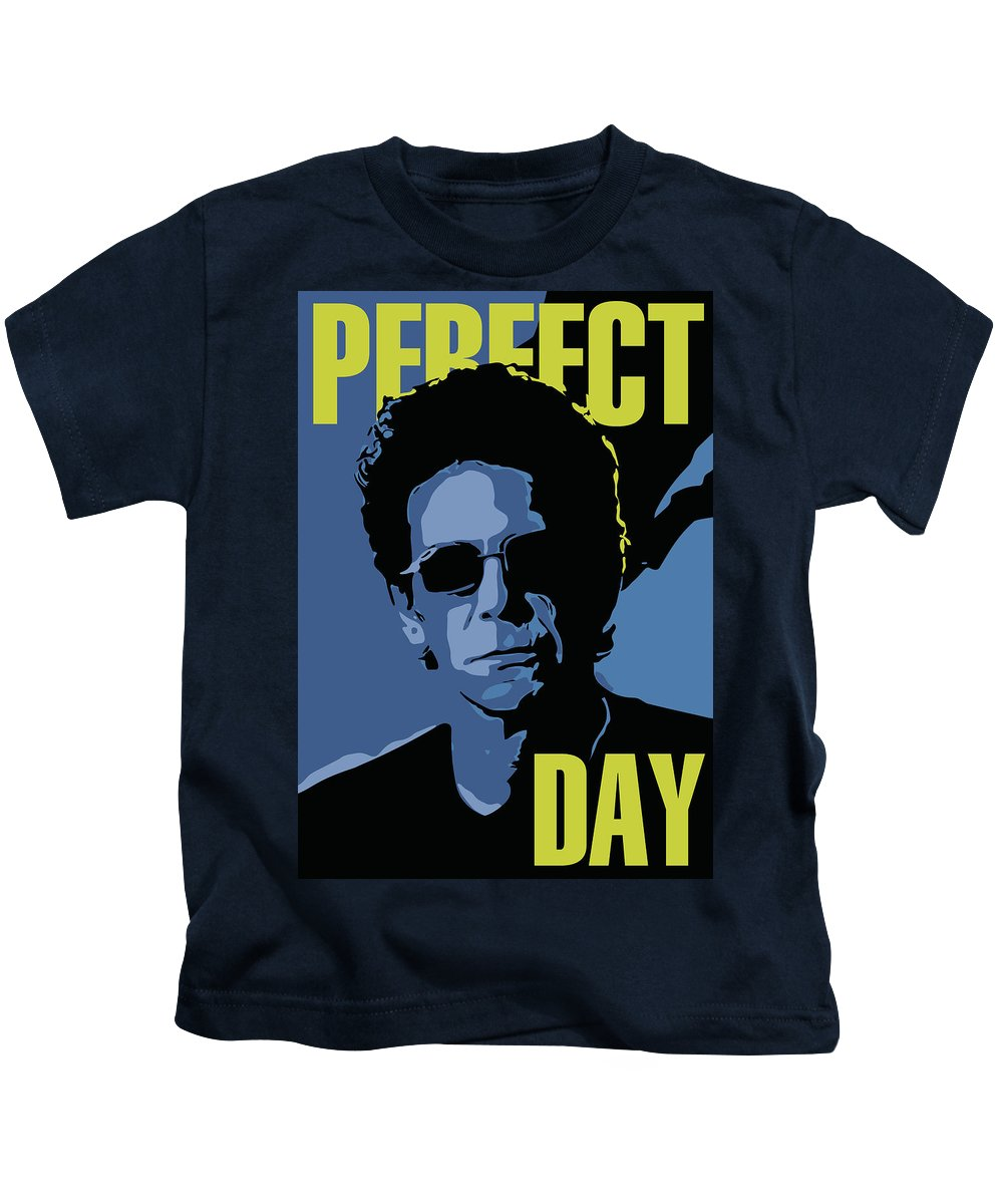 Lou Reed Kids T-Shirt featuring the digital art Lou Reed by Greatom London