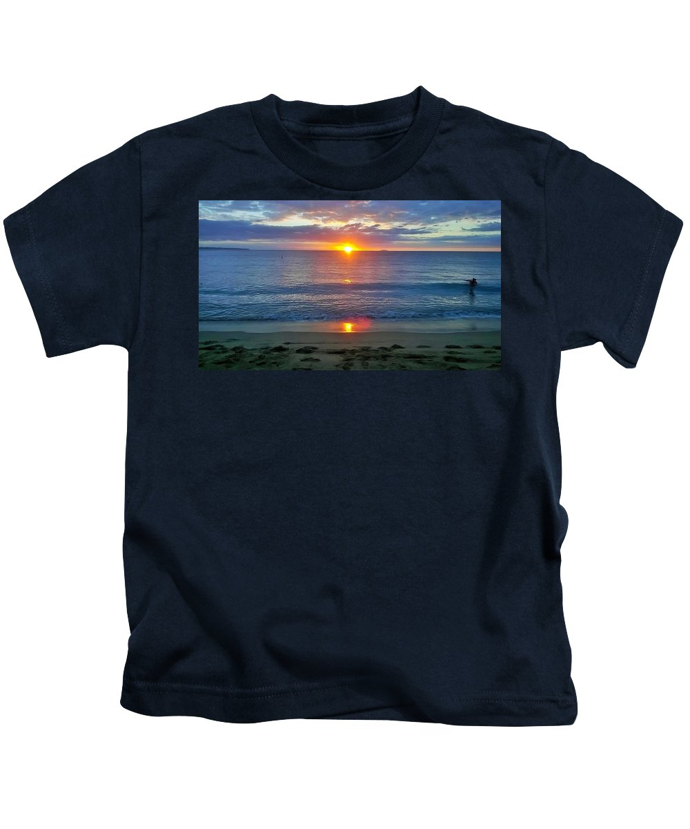 Kids T-Shirt featuring the photograph Lovers Last Light by Sheryl Chapman Photography