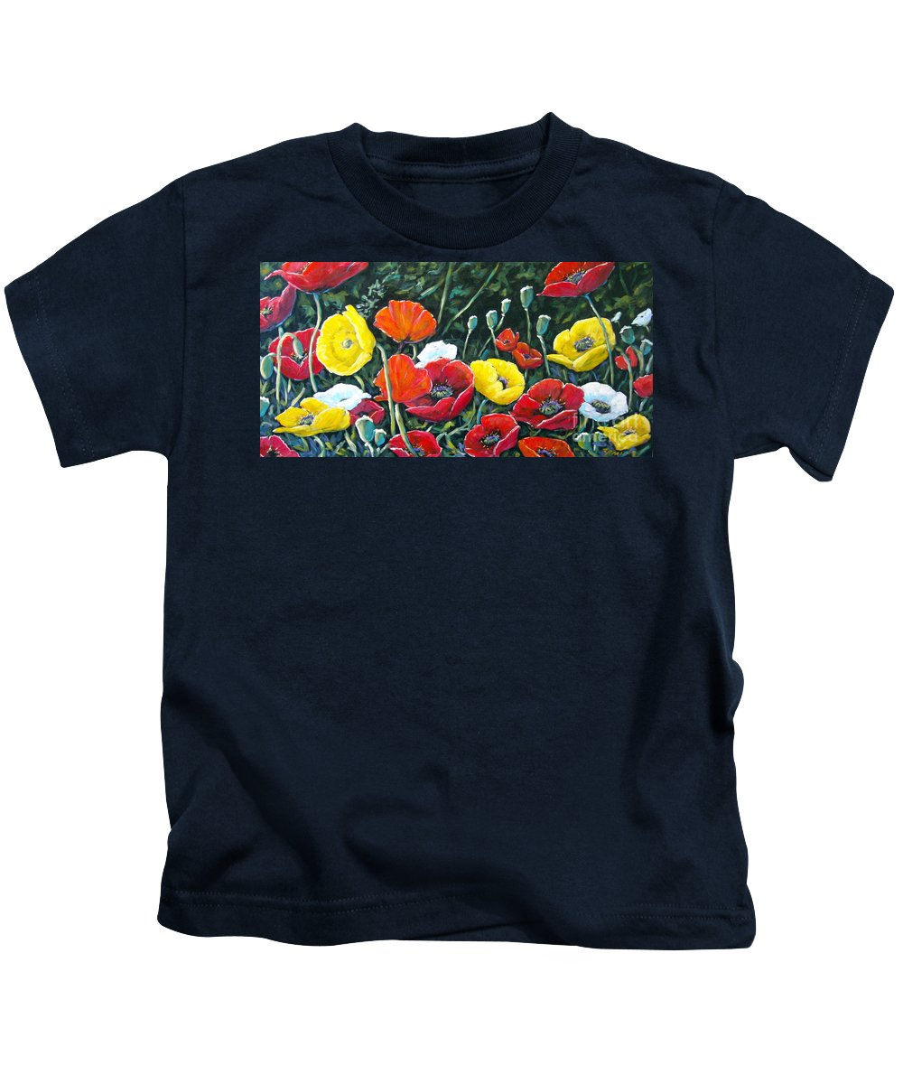 Art Kids T-Shirt featuring the painting Maestoso Opus by Richard T Pranke