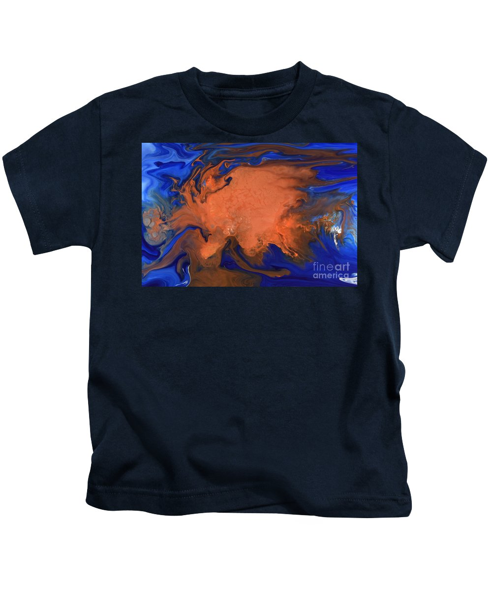 Orange Kids T-Shirt featuring the photograph Magma by Brion McMaster