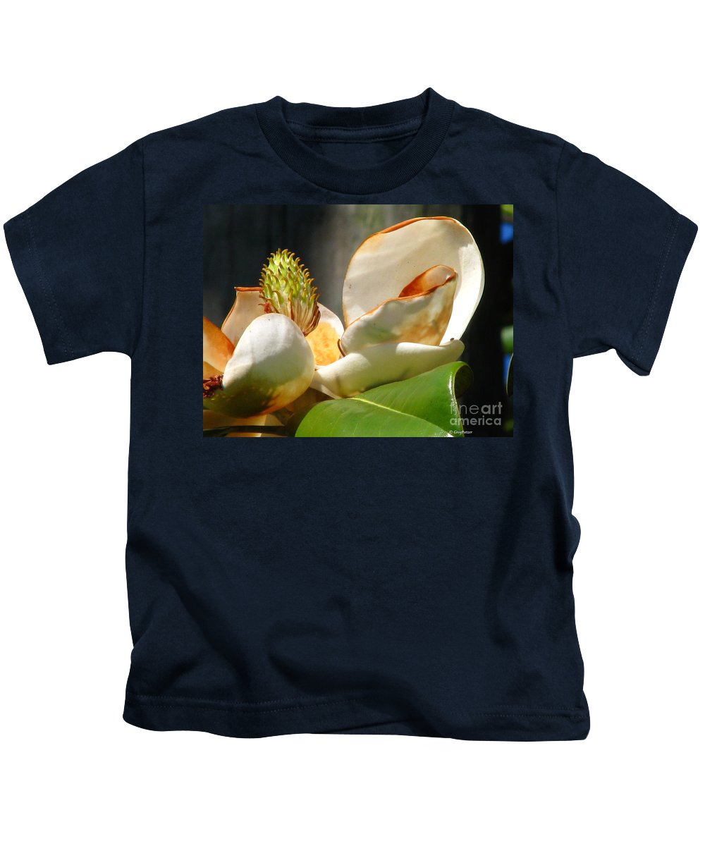 Patzer Kids T-Shirt featuring the photograph Magnolia Sunburn by Greg Patzer
