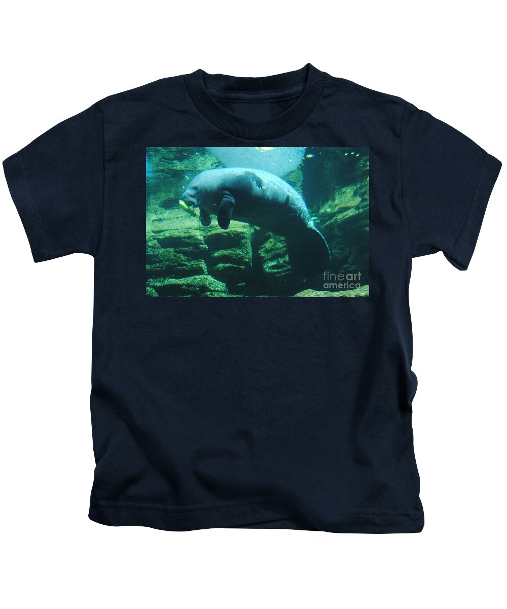 Manatee Kids T-Shirt featuring the photograph Manatee by Jost Houk