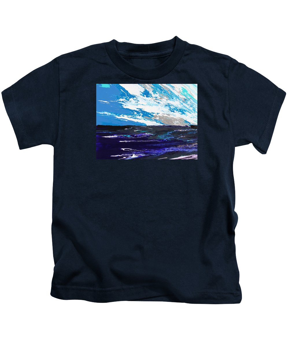 Fusionart Kids T-Shirt featuring the painting Mariner by Ralph White