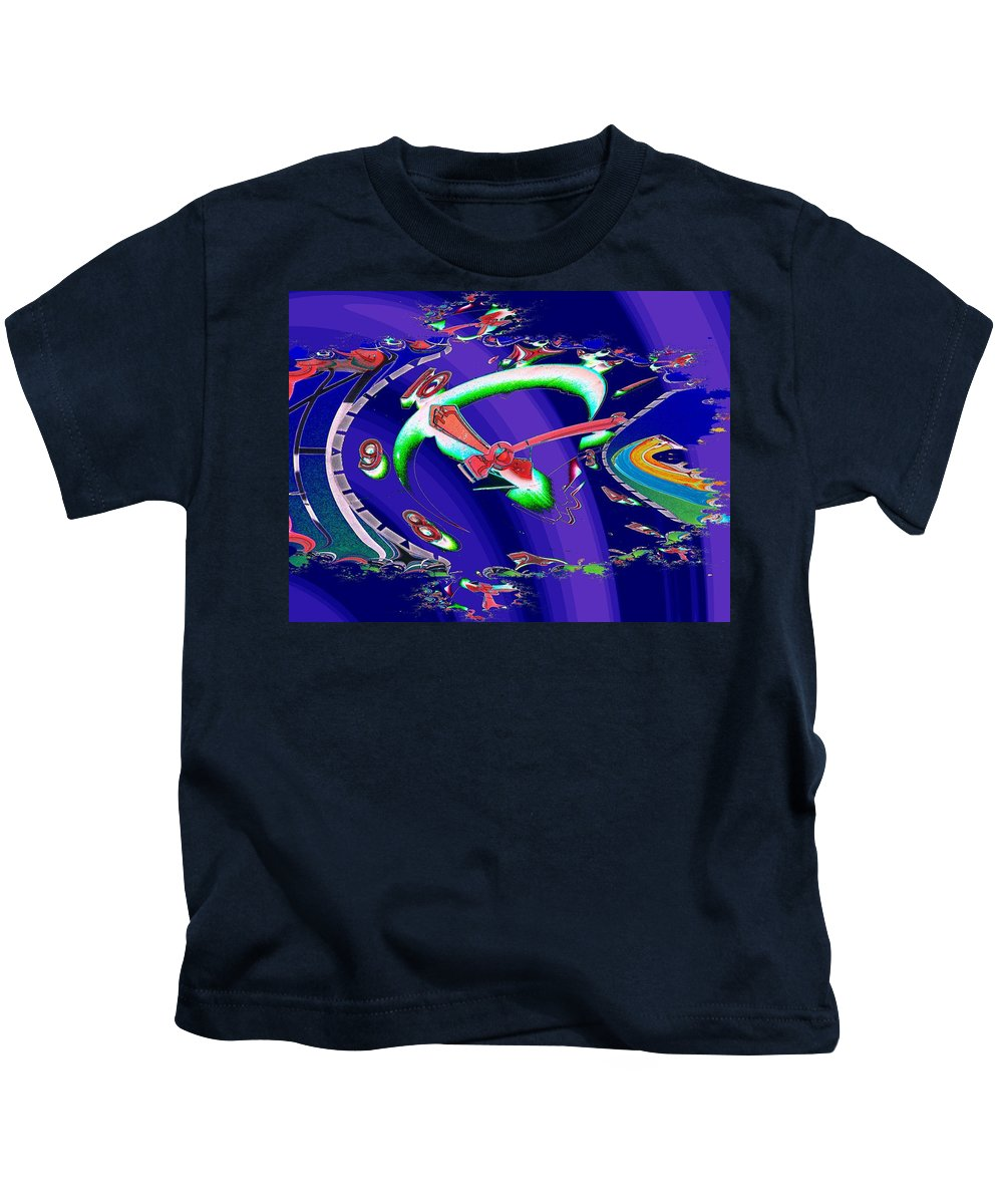 Seattle Kids T-Shirt featuring the photograph Market Clock In Fractal by Tim Allen