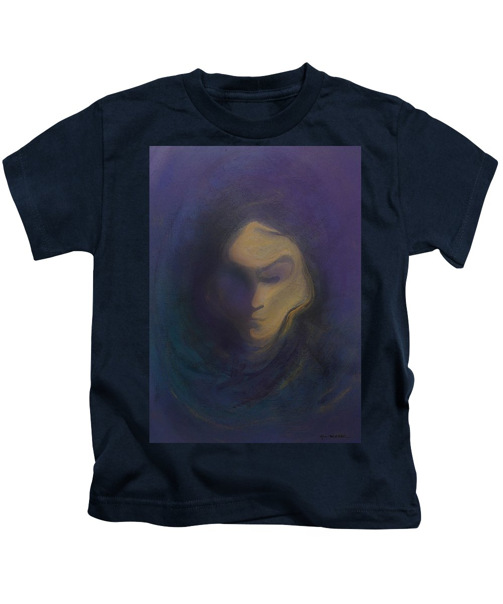 Mask Kids T-Shirt featuring the painting Masked by Kevin Middleton