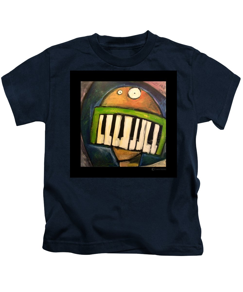 Funny Kids T-Shirt featuring the painting Melodica Mouth by Tim Nyberg