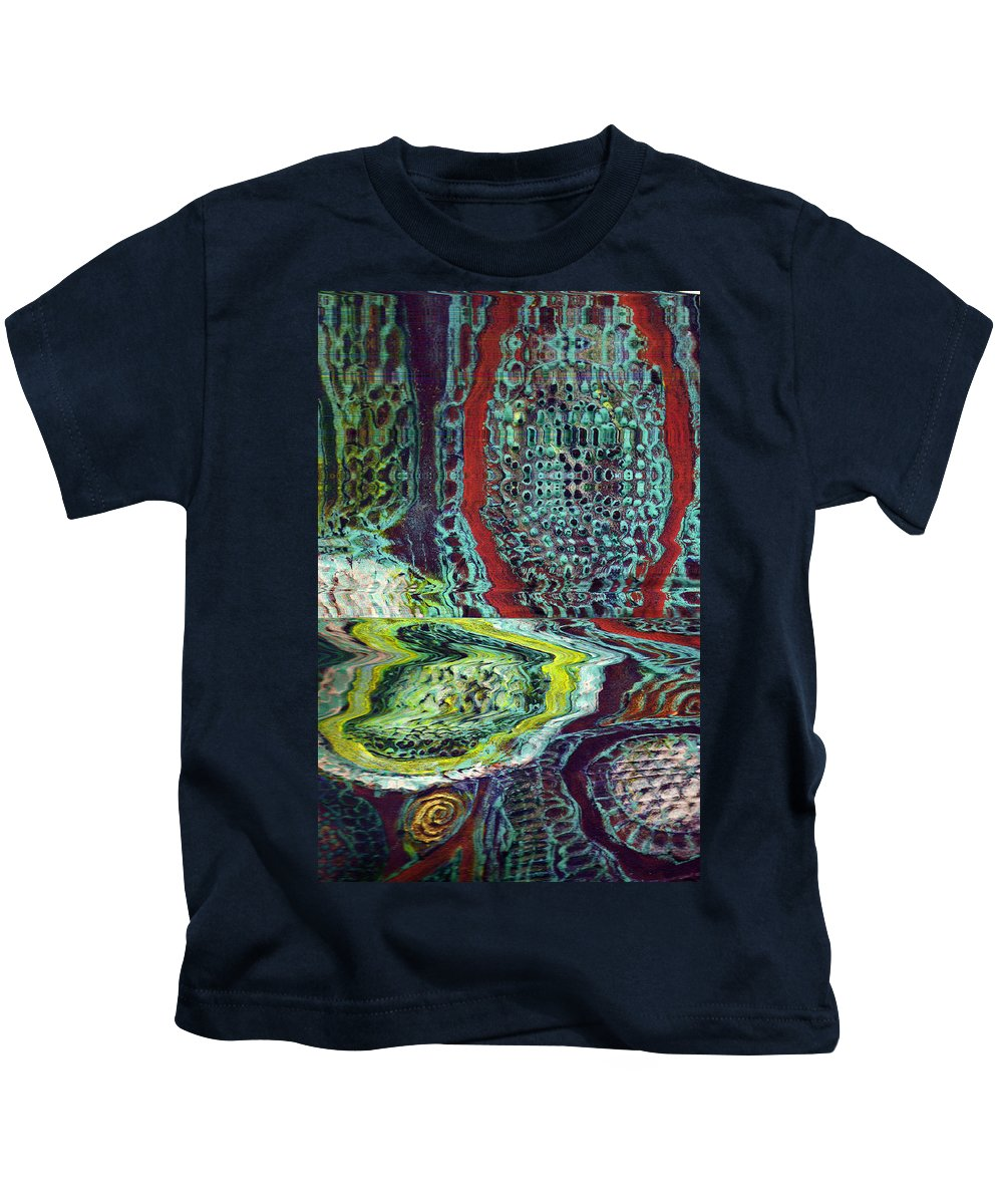 Abstract Kids T-Shirt featuring the painting Melting by Wayne Potrafka