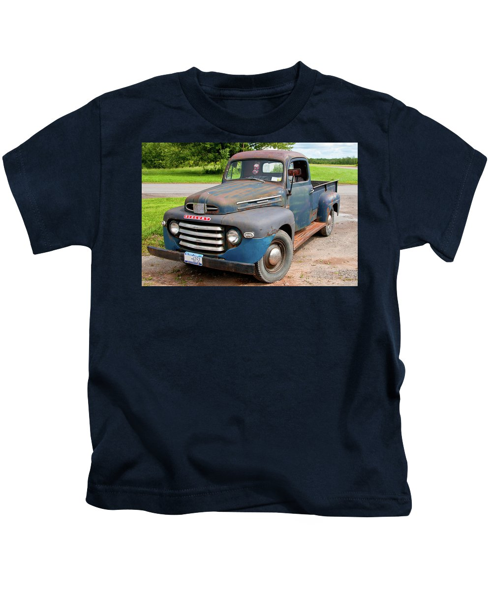 Antique Car Kids T-Shirt featuring the photograph Mercury 2235 by Guy Whiteley