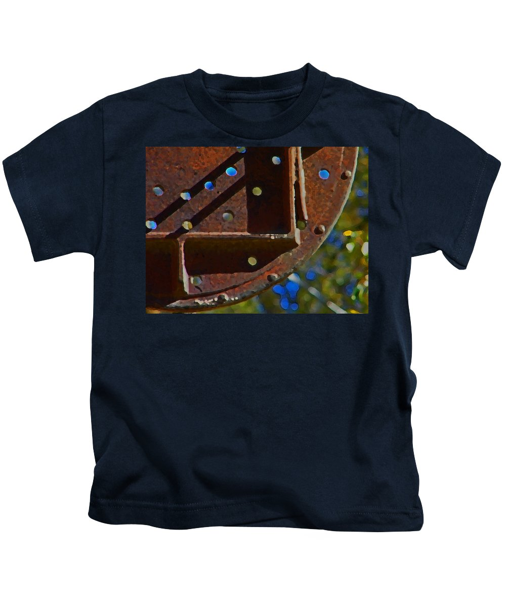 Abstract Kids T-Shirt featuring the digital art Metal Mobile by Lenore Senior