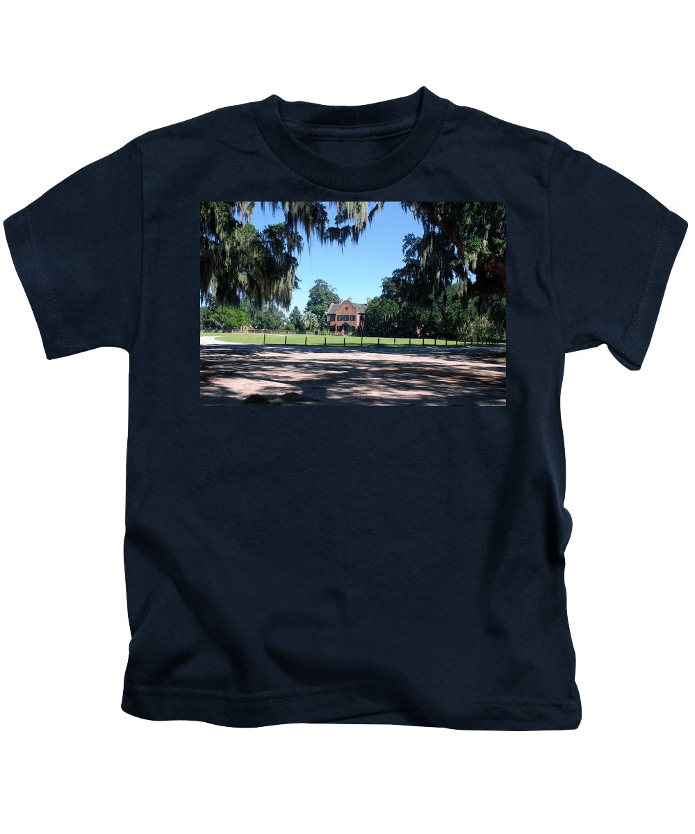Photography Kids T-Shirt featuring the photograph Middleton Plantation Charleston Sc by Susanne Van Hulst