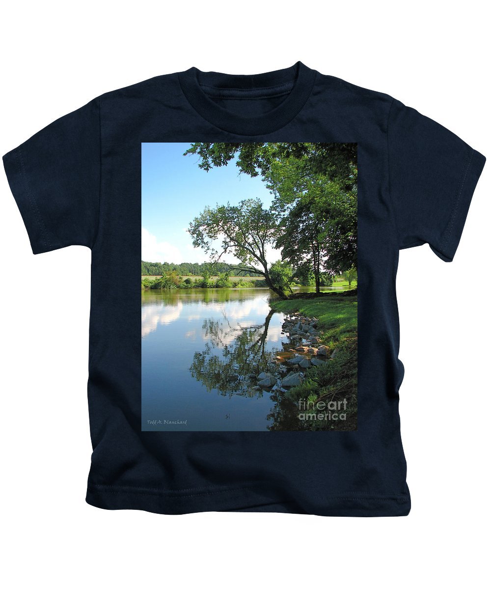 Landscape Kids T-Shirt featuring the photograph Mirror Image by Todd Blanchard