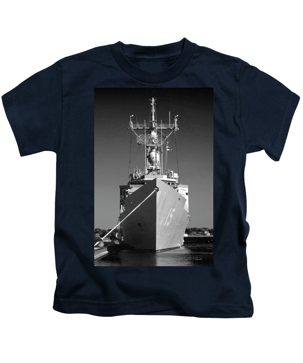 Photography Kids T-Shirt featuring the photograph Missile Destroyer by Frederic A Reinecke