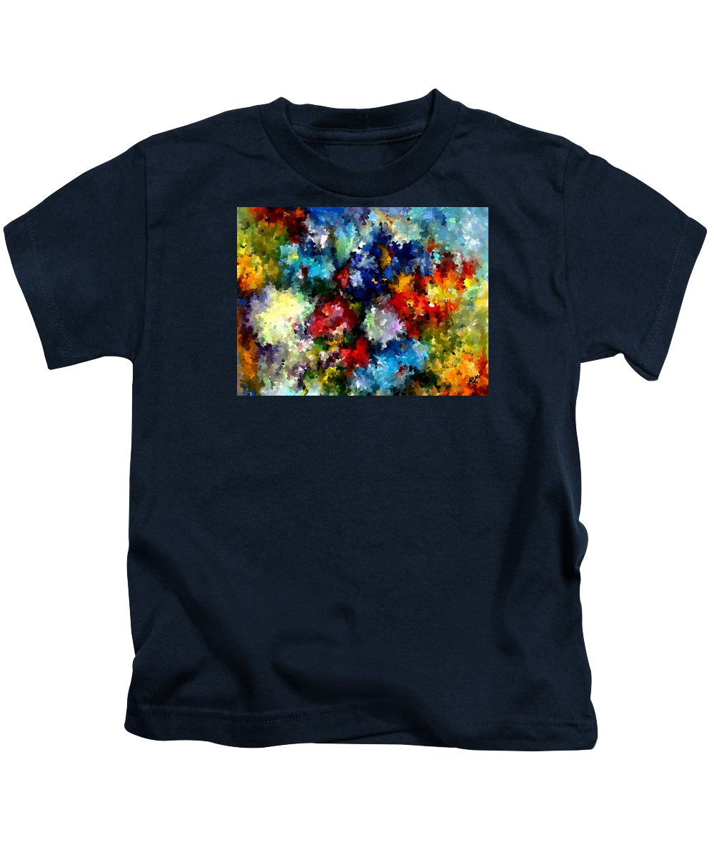 Contemporary Kids T-Shirt featuring the painting Modern Composition 03 by Rafi Talby
