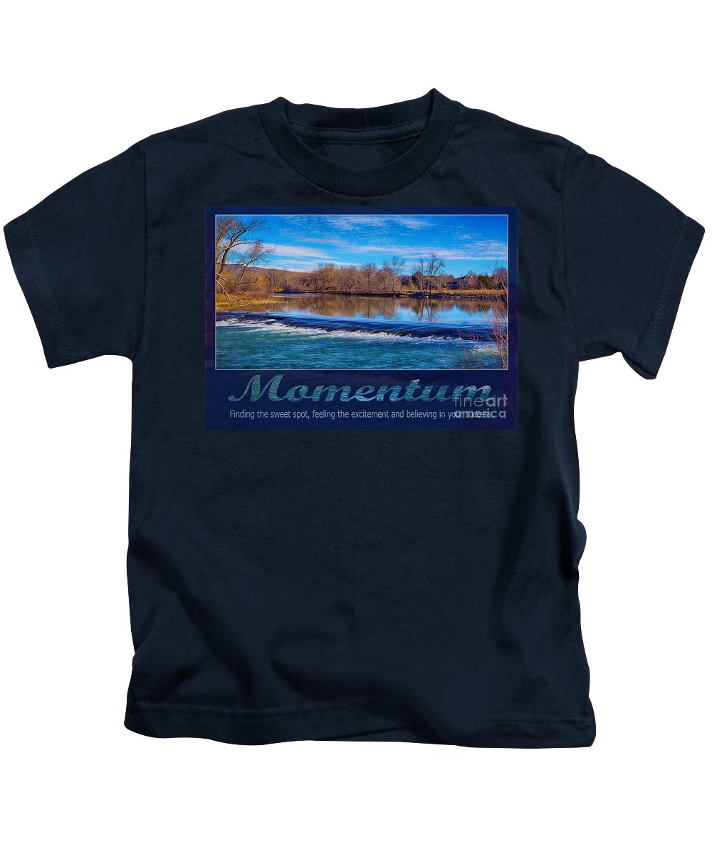 2016 Kids T-Shirt featuring the photograph Momentum By Omashte by Omaste Witkowski