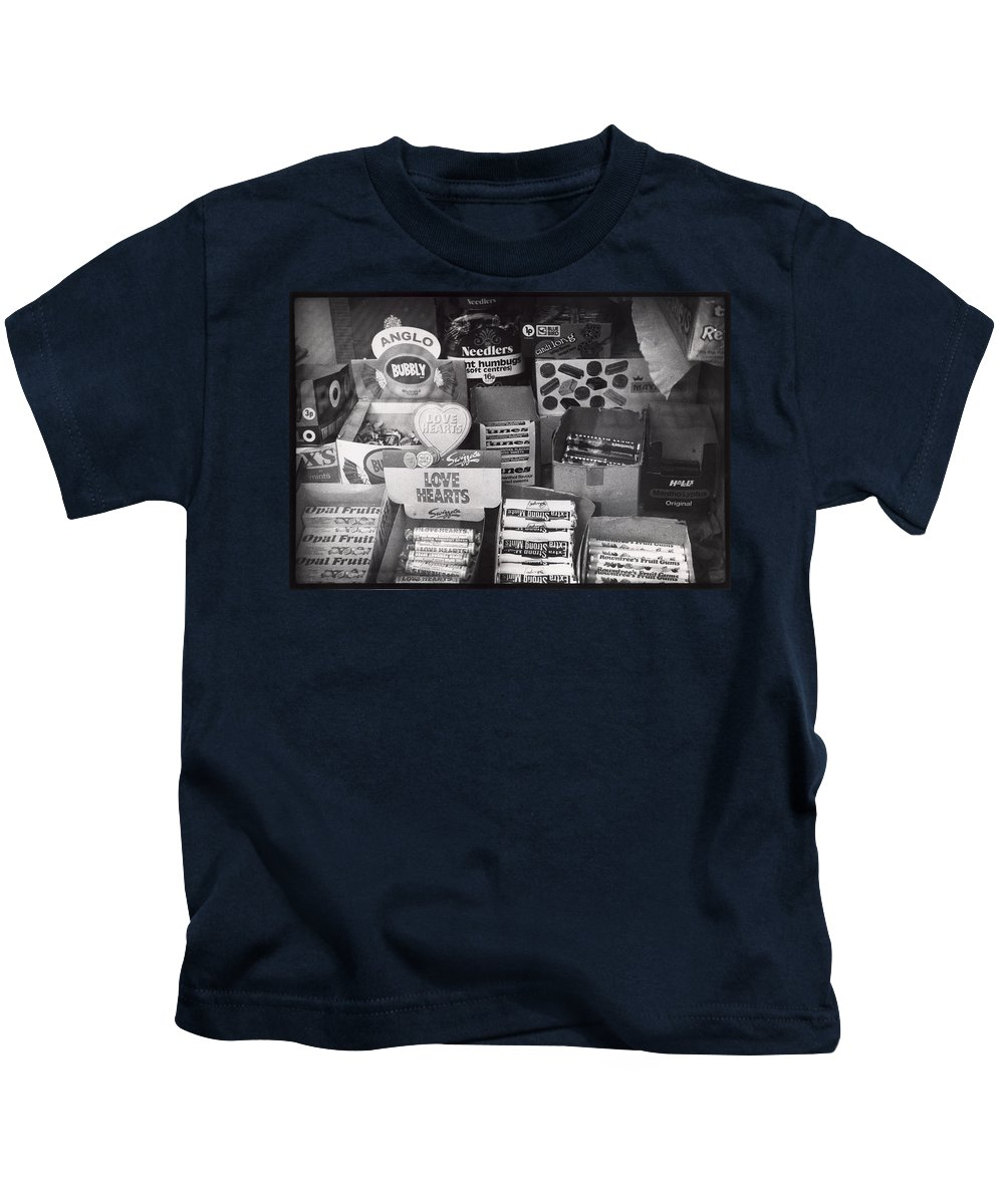 Candy Kids T-Shirt featuring the photograph Monochrome Candy by Charles Stuart