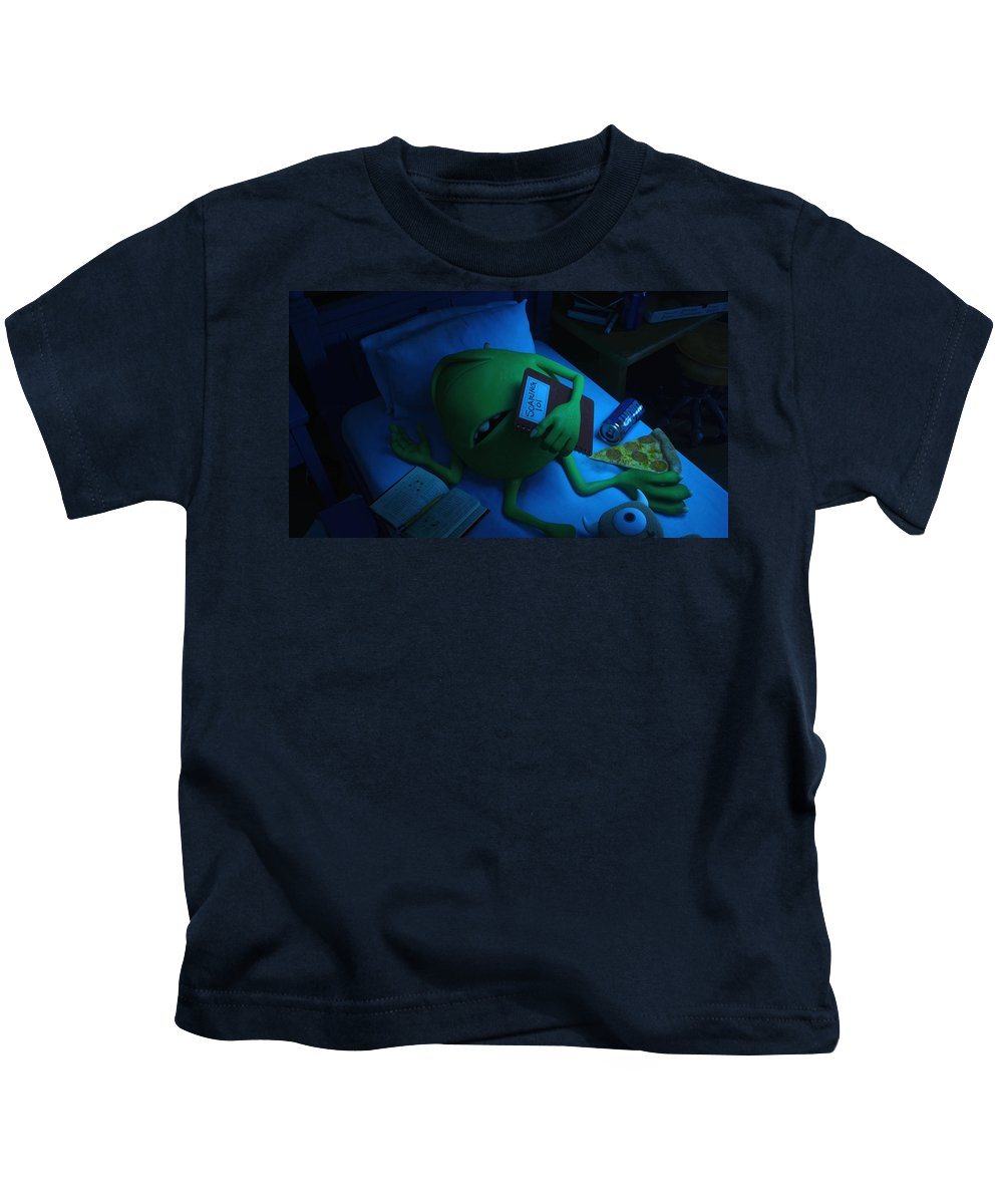 Monsters Univeristy Kids T-Shirt featuring the digital art Monsters Univeristy by Dorothy Binder