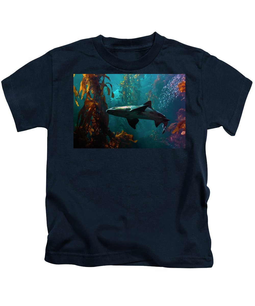 Monterey Kids T-Shirt featuring the photograph Monterey Depths by Greg Reed