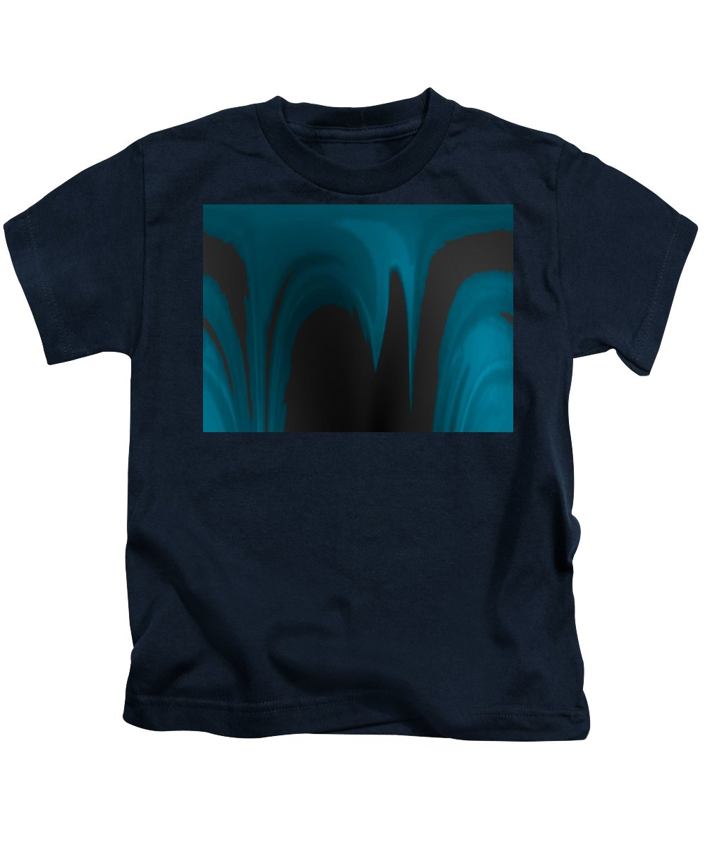 Abstract Kids T-Shirt featuring the digital art Moon As The Dark Man by Lenore Senior