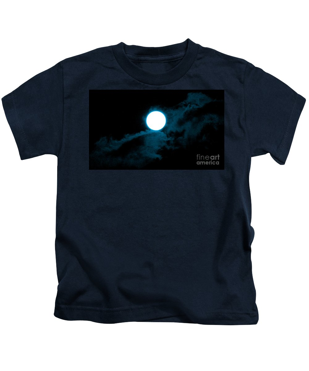 Photography Kids T-Shirt featuring the photograph Moonrise 2 by Abstract Angel Artist Stephen K