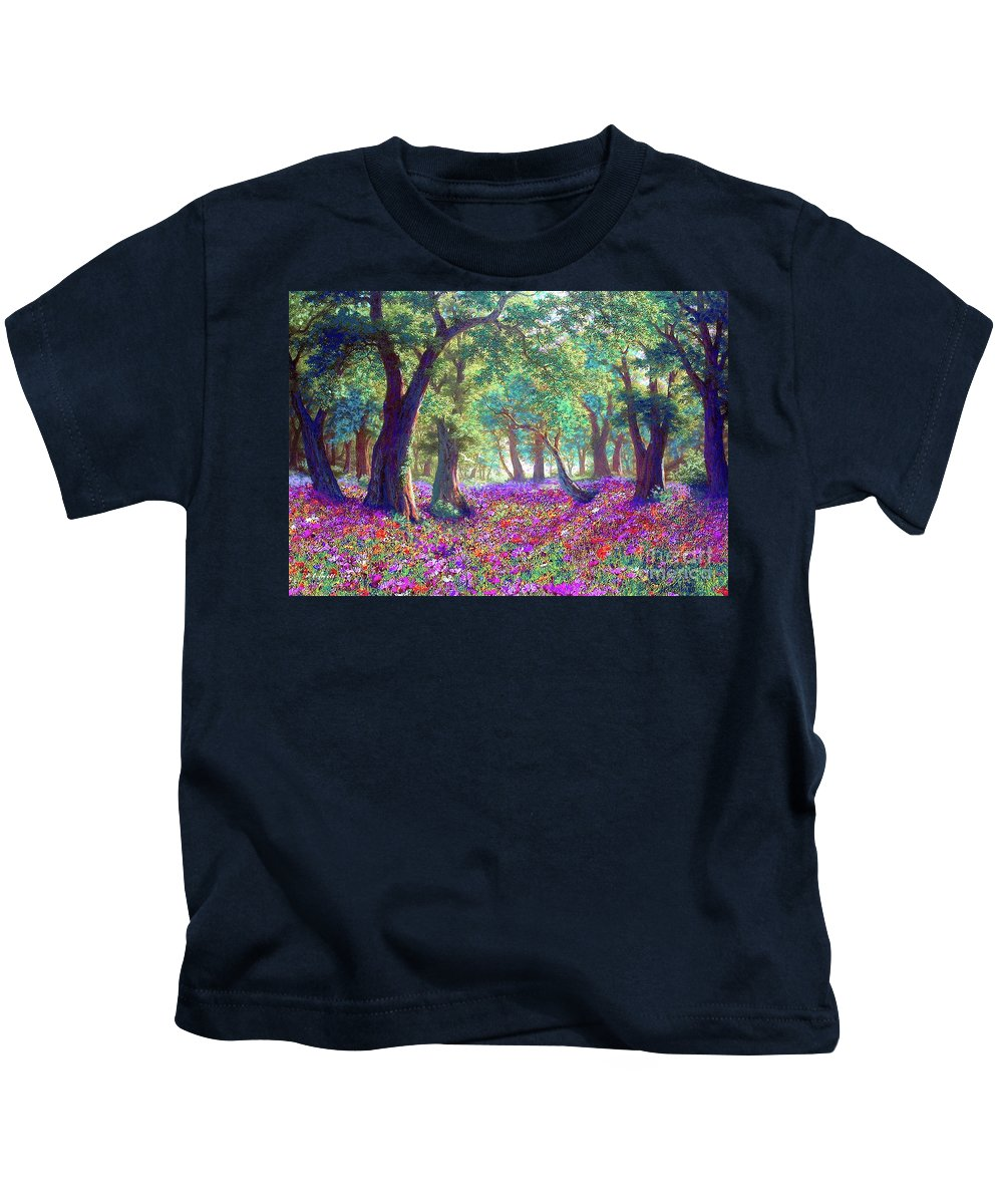 Sun Kids T-Shirt featuring the painting Morning Dew by Jane Small