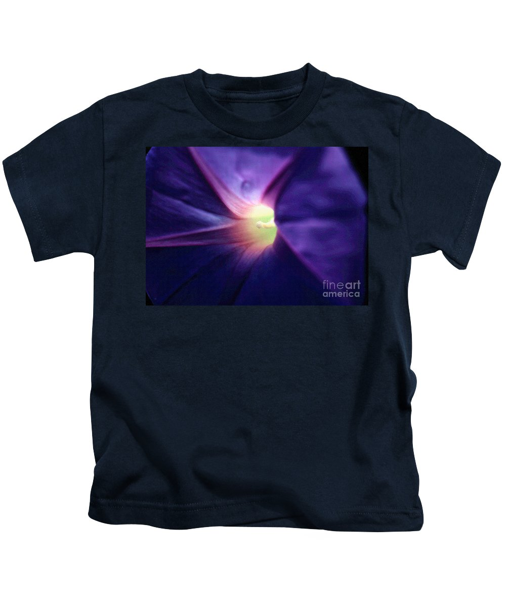 Digital Scans Kids T-Shirt featuring the photograph Morning Glory by Norman Andrus