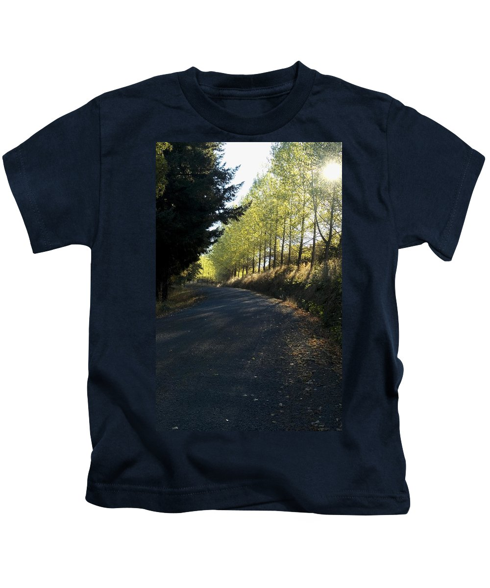 Morning Kids T-Shirt featuring the photograph Morning Path by Sara Stevenson