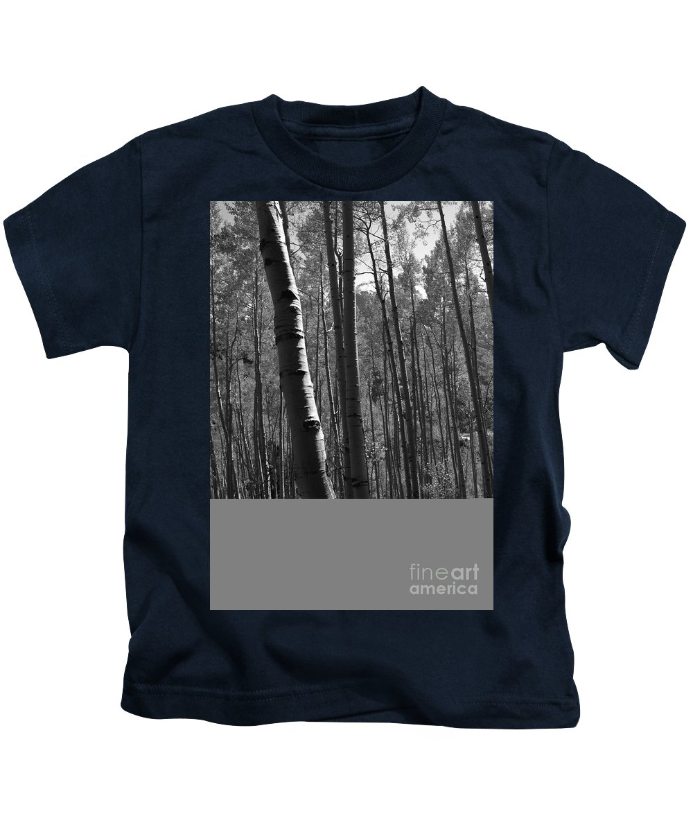 Mountains Kids T-Shirt featuring the photograph Mountain Aspens by David Lee Thompson