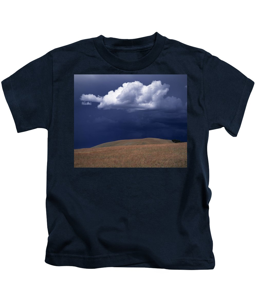 Mountain Sky Kids T-Shirt featuring the photograph Mountain Sky by Leland D Howard