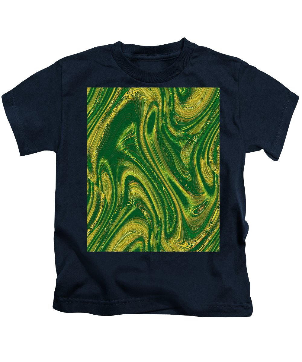 Moveonart! Digital Gallery Kids T-Shirt featuring the digital art Moveonart Opportunity Within Chaos by Jacob Kanduch