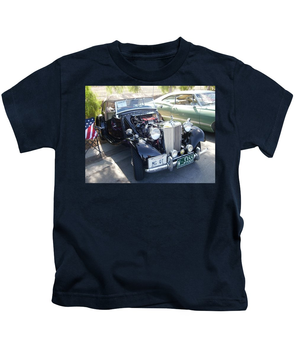 Car Kids T-Shirt featuring the photograph My Fathers Wish by Edward Wolverton