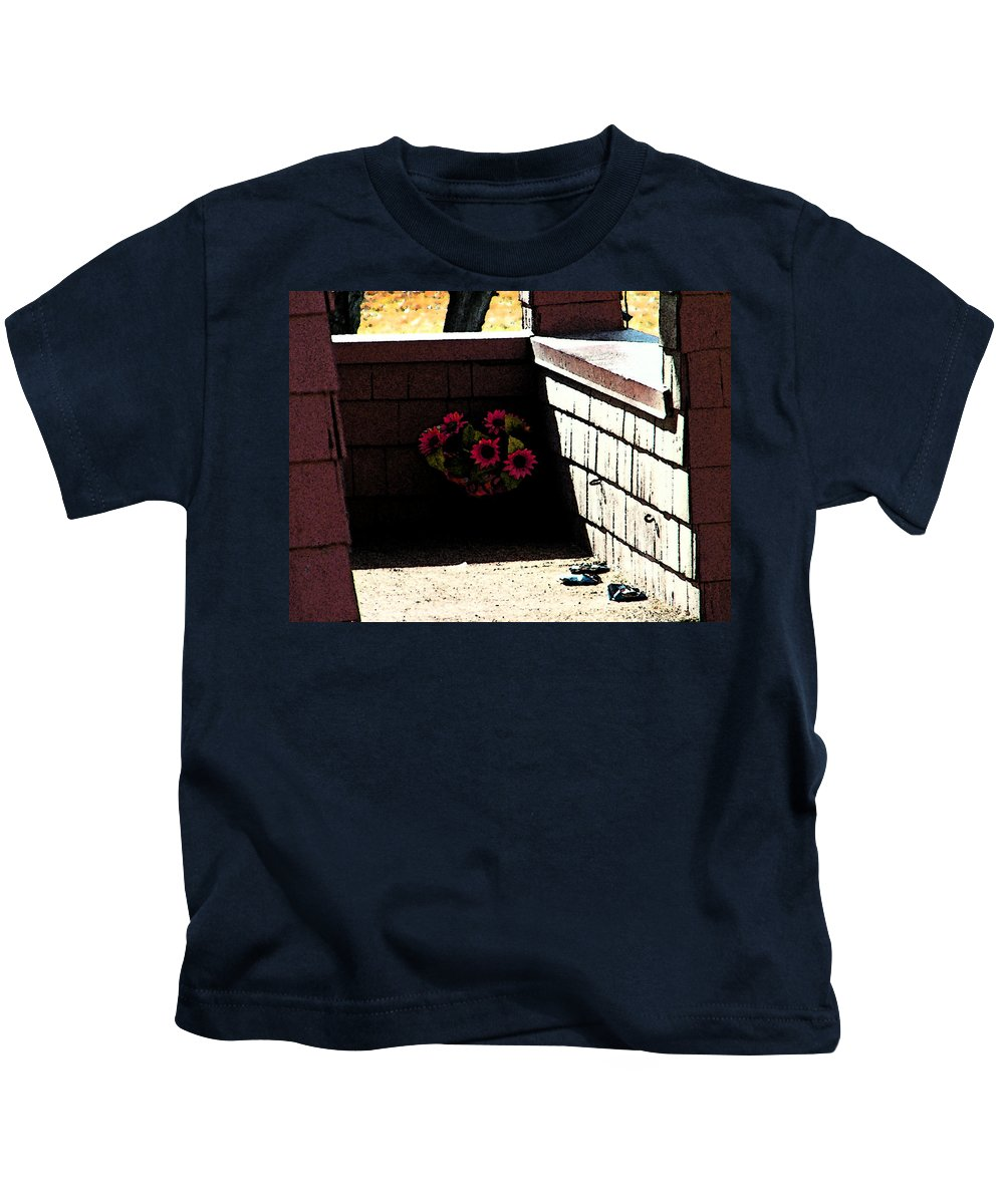 Kids T-Shirt featuring the photograph My Neighbors Porch by Lenore Senior