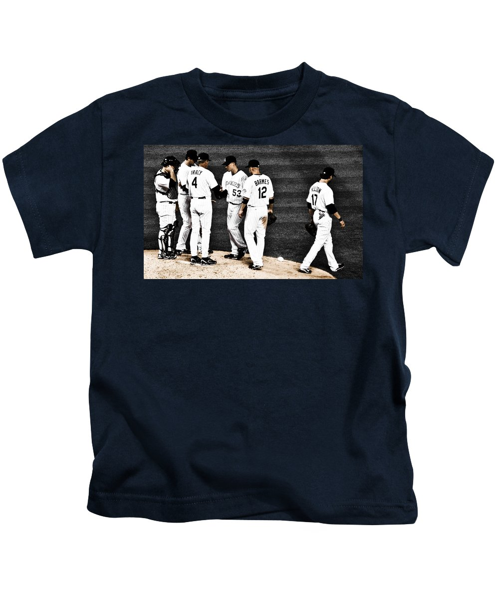 Baseball Kids T-Shirt featuring the photograph My Rock Collection - Colorado Rockies by Marilyn Hunt